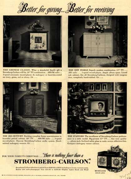 Stromberg-Carlson Company's Television – Better for giving... Better for receiving (1951)