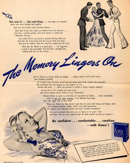 Kotex Company's Sanitary Napkins – The Memory Lingers On (1942)