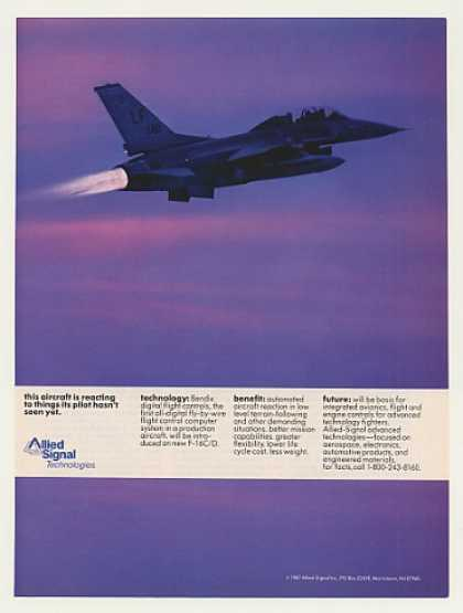 F-16C/D Aircraft Allied Signal Photo (1987)
