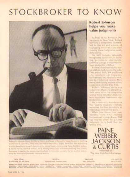 Paine Webber – Stockbroker To Know (1966)