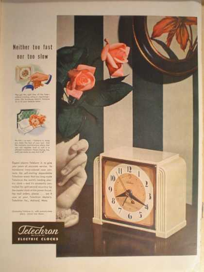 Telechron electric clocks (1946)