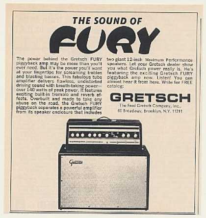 Gretsch Fury Piggyback Amp Amplifier (1968)