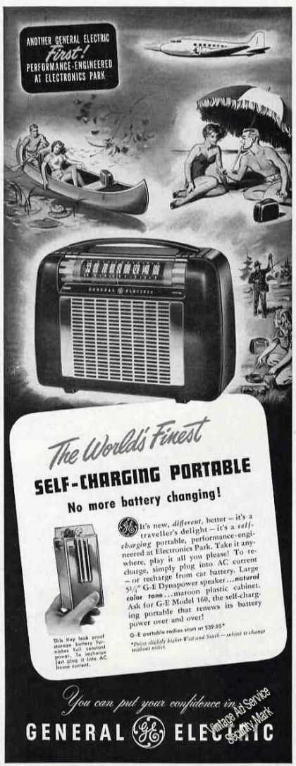 Ge Self-charging Portable Radio (1949)
