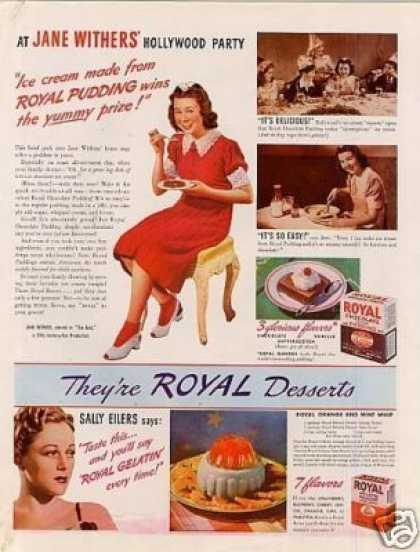 Royal Desserts Ad Jane Withers (1940)