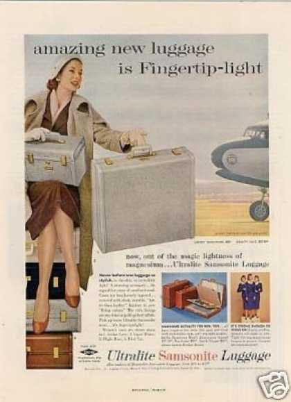 Samsonite Ultralite Luggage (1956)