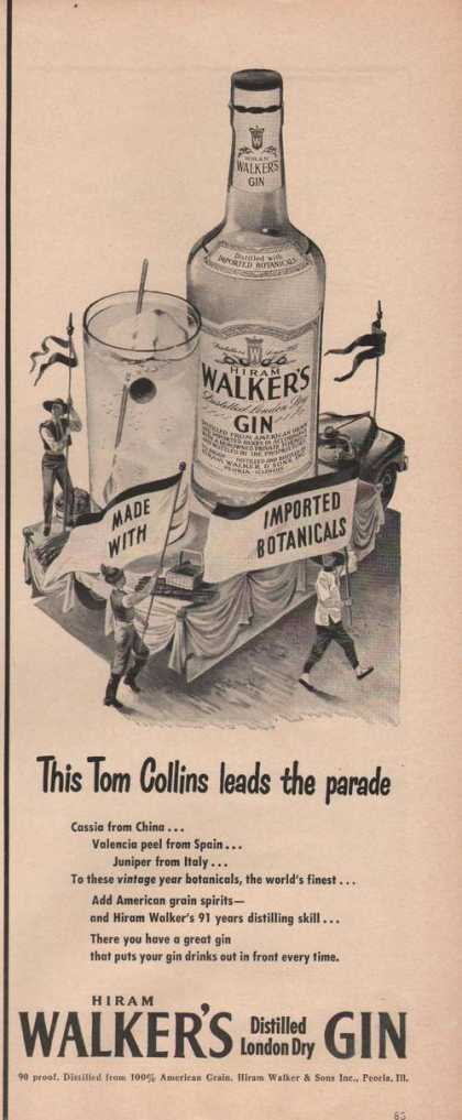Hiram Walker London Dry Gin (1949)