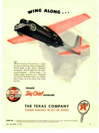 Texaco Company – Sky Chief Gasoline – Wing Along (1947)