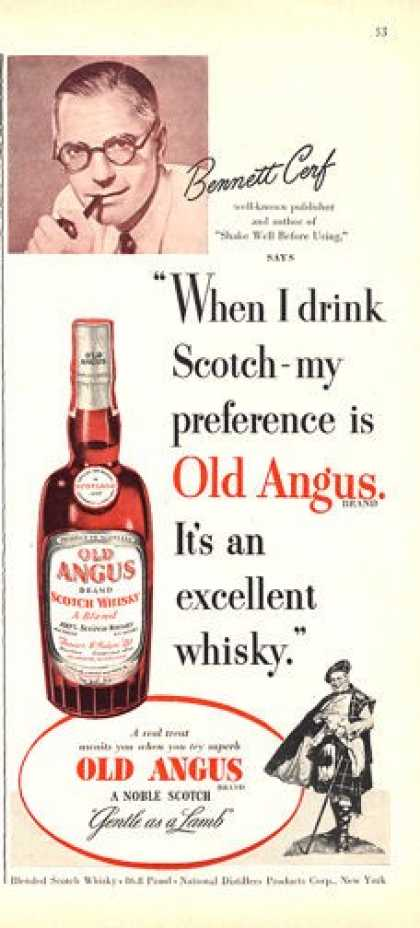 Old Angus Scotch Whisky Bottle (1950)