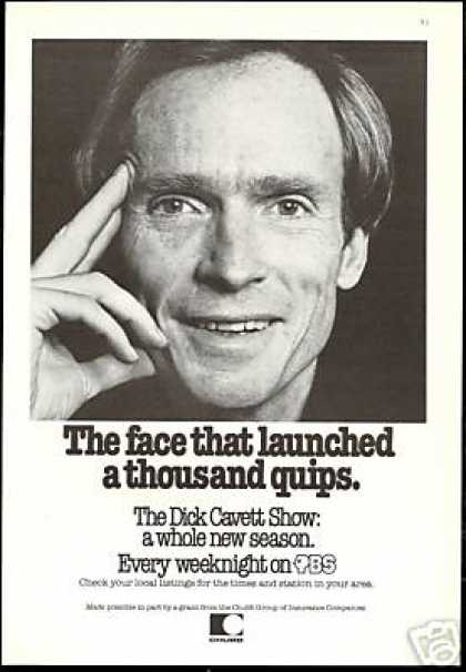 The Dick Cavett Show PBS Print Chubb (1979)