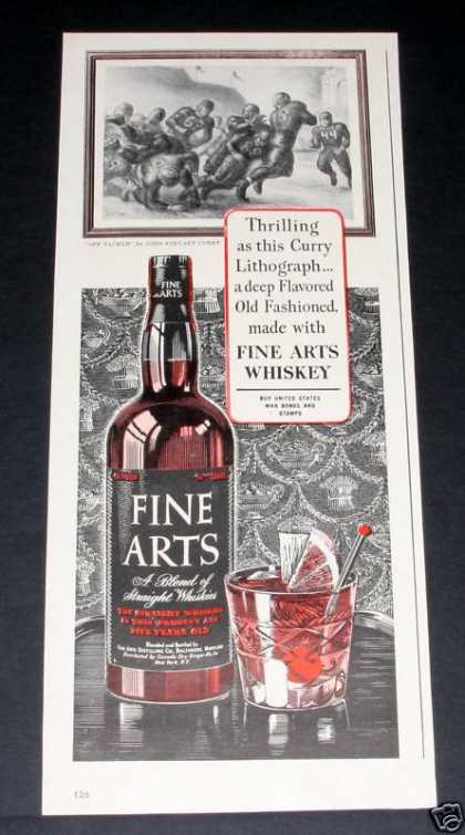 Fine Arts Blended Whiskey (1944)