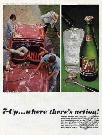 7-up...where There's Action! Collectible (1965)