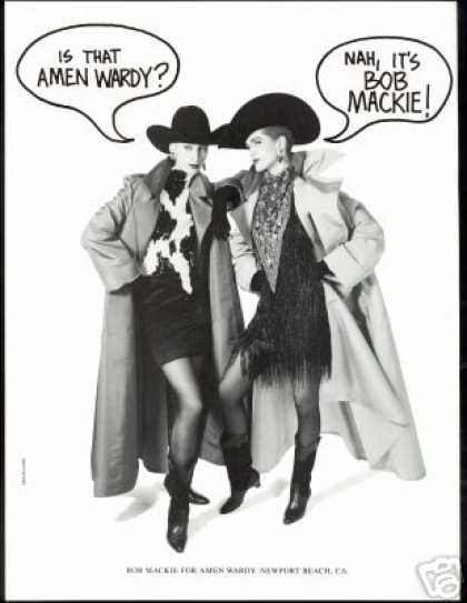 Bob Mackie Western Fashion Amen Wardy (1988)