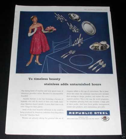 Republic Steel, Stainless Tableware (1959)