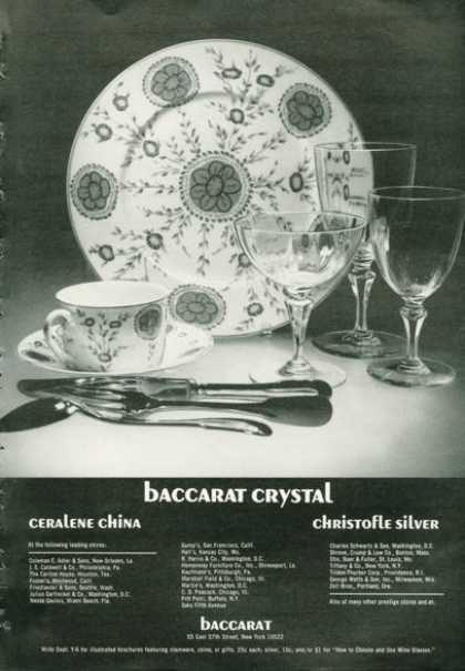 Baccarat Dvystal China Silver (1972)