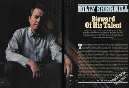 Billy Sherrill Photo Magazine Feature (1984)