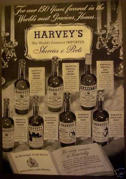 Harvey's Imported Sherries and Ports (1956)