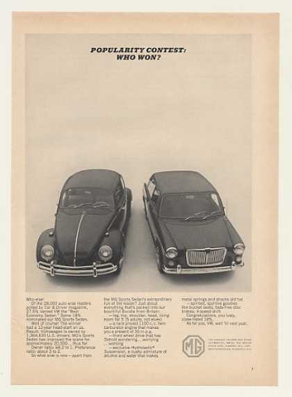 MG Sports Sedan vs VW Beetle Popularity Contest (1965)