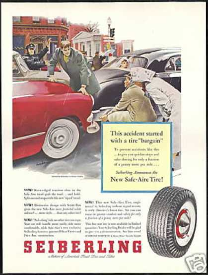 Seiberling Tires Police George Hughes Art (1953)