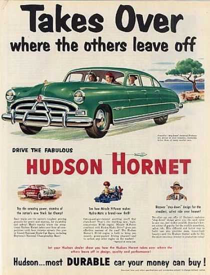 "Hudson Hornet Car Ad ""Takes Over... (1951)"