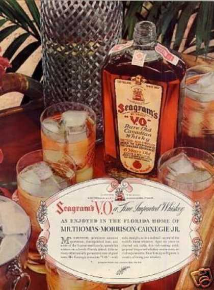 Seagram's V.o. Whiskey (1937)