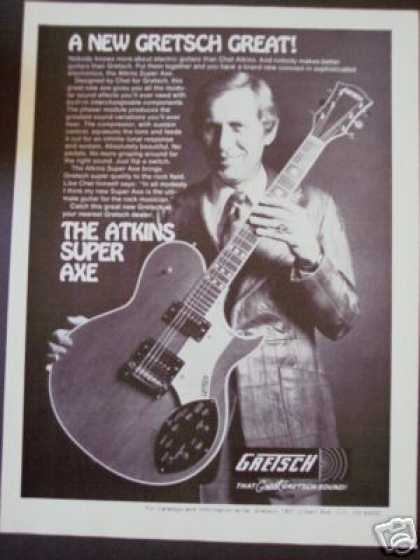 Chet Atkins Photo Gretsch Super Axe Guitar (1977)