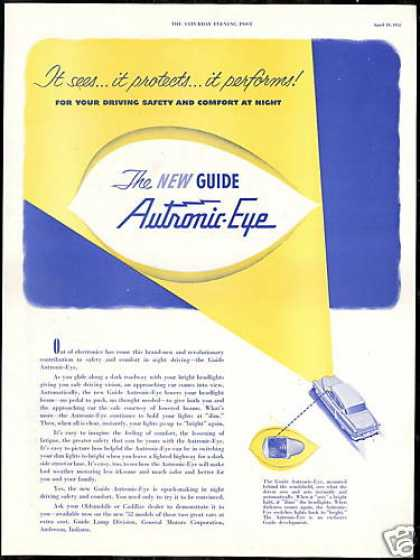 GM Car Guide Autronic Eye Vintage (1952)