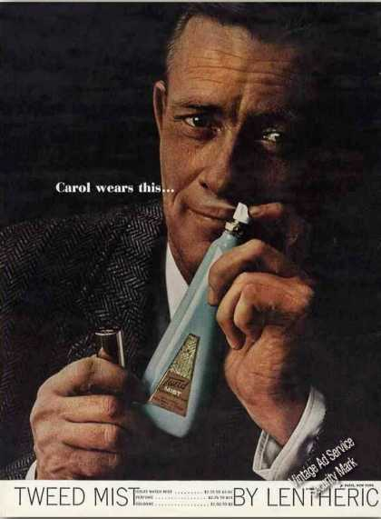 "Tweed Mist By Lentheric ""Carol Wears This..."" (1960)"