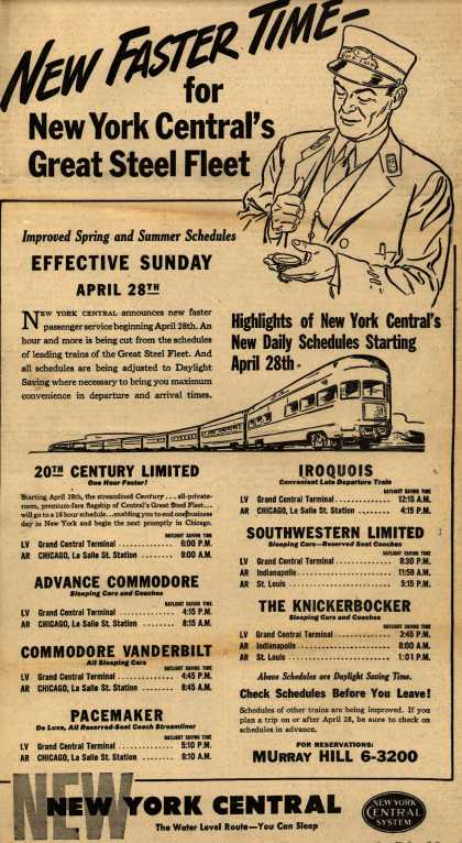 New York Central System's Great Steel Fleet – New Faster Time for New York Central's Great Steel Fleet (1946)