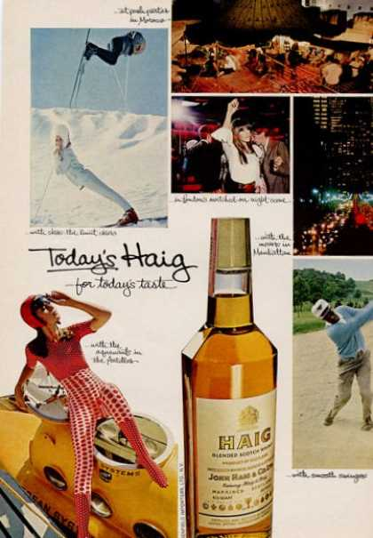 Haig Scotch Whisky Snow Ski Bottle (1966)
