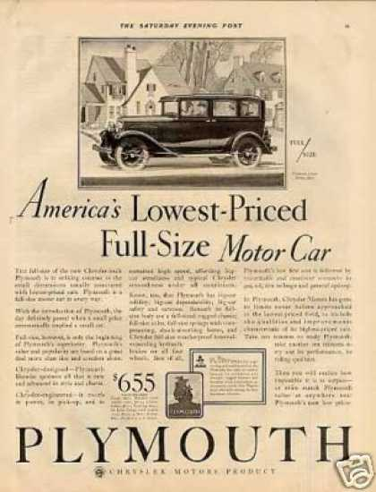 Plymouth 4-door Sedan Ad 2 Page (1929)
