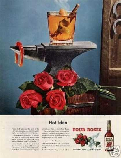 "Four Roses Whiskey Ad ""Hot Idea"" (1949)"
