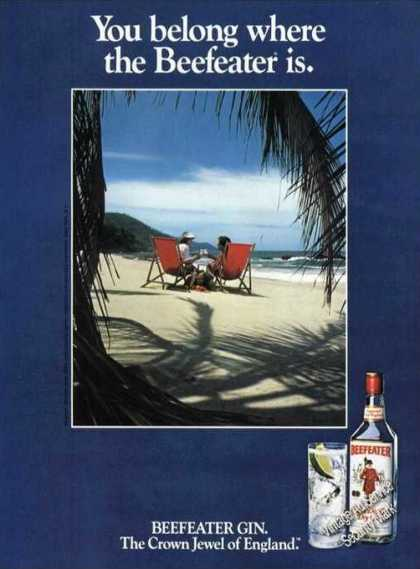 You Belong Where the Beefeater Is Gin Ad Beach (1981)