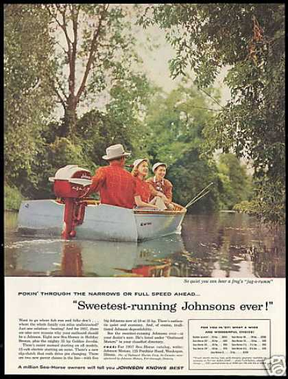 Johnson Outboard Boat Motor Fishing Photo (1957)