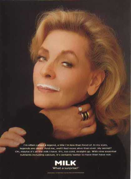 Lauren Bacall &#8211; GOT MILK? (1995)