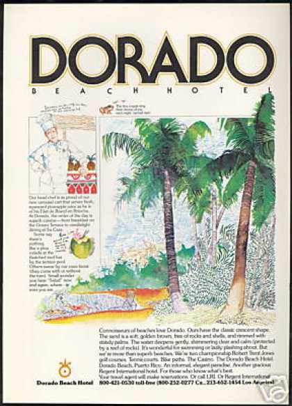 Dorado Beach Hotel Chef Cober Art (1978)
