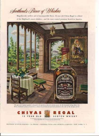 Chivas Regal 12 Year Old Scotch Whisky (1957)