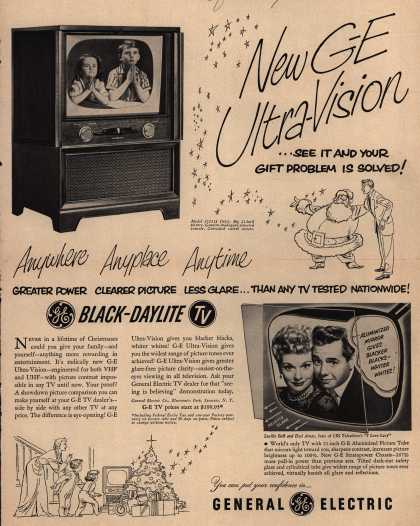 General Electric Company's Black-Daylight Television – New GE Ultra-Vision (1952)