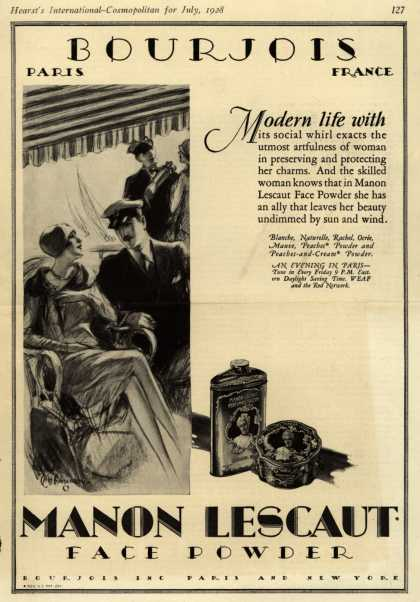 Bourjoi's Manon Lescaut Cosmetics – Modern life with (1928)