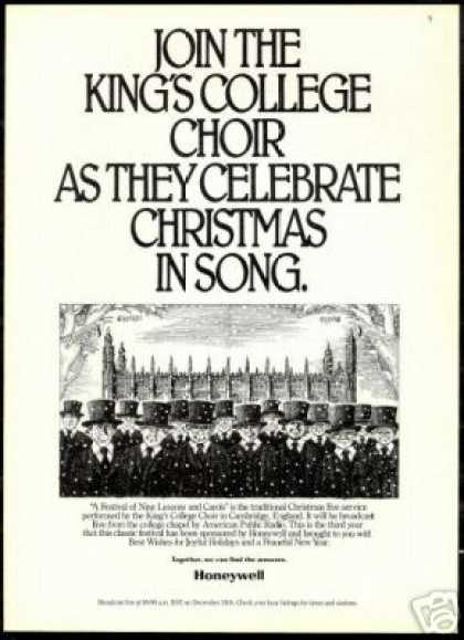 Cambridge England Kings College Choir Honeywell (1986)