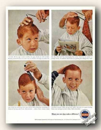 Savings & Loan Foundation Red Head Boy Haircut (1959)