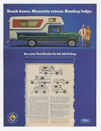 Ford Camper Truck Beach Mountain Hunting (1967)