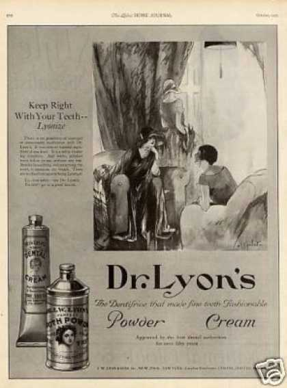 Dr. Lyon's Tooth Powder & Cream (1923)
