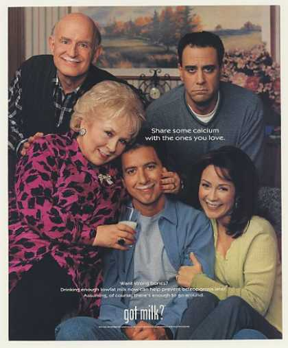 Everybody Loves Raymond Cast Got Milk Photo (2000)