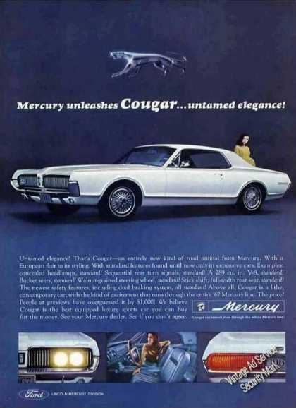 Mercury Unleashes Cougar...untame (1966)