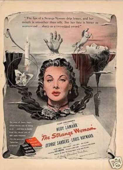 "Movie Ad ""The Strange Woman"" Hedy Lamarr (1946)"