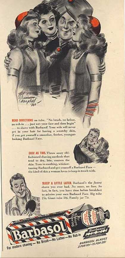 Barbasol's Cream for Modern Shaving (1939)