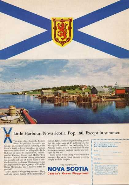 Nova Scotia Little Harbor, Pop 180 Except (1965)