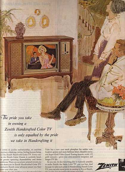 Zenith's Handcrafted Color TV's (1965)
