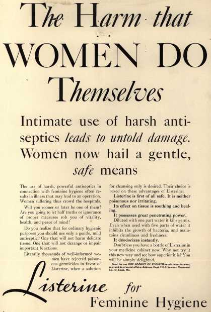 Lambert Pharmacal Company's Listerine – The Harm that Women Do Themselves (1932)