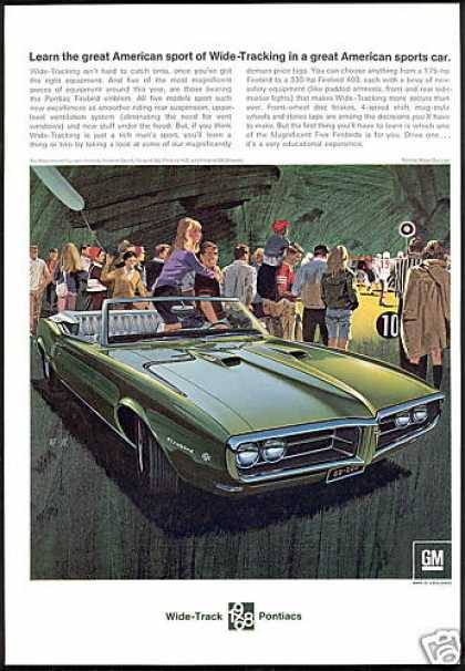 Pontiac Firebird 400 Convertible Car AF VK Art (1968)